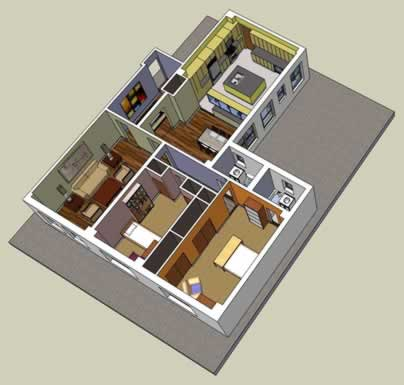 How does it work virtual renovation for Turn floor plan into 3d model