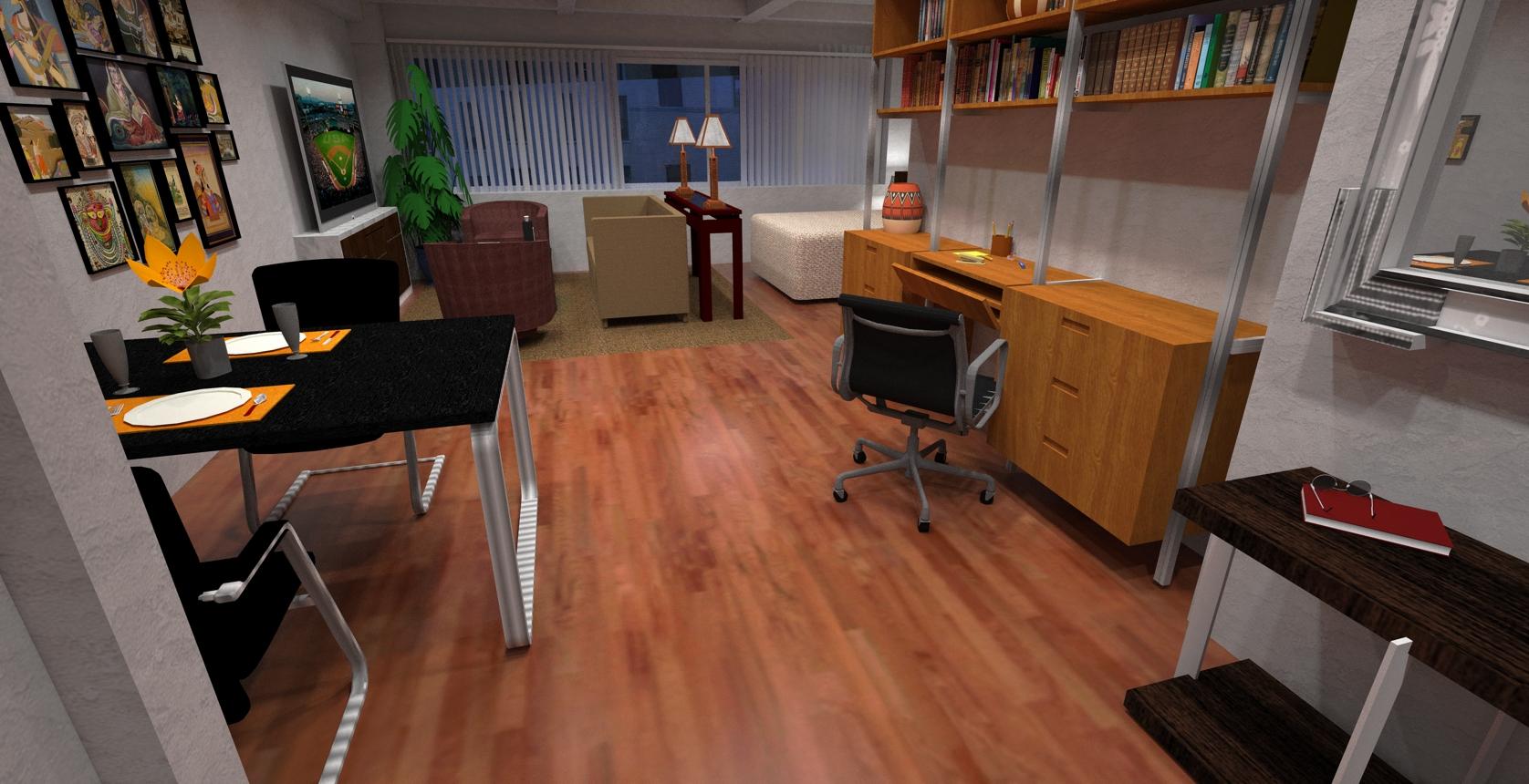 Virtual Staging Of A Studio Apartment 1 Virtual Renovation